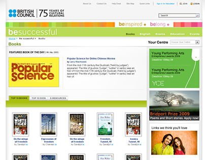British Council Website design 2010