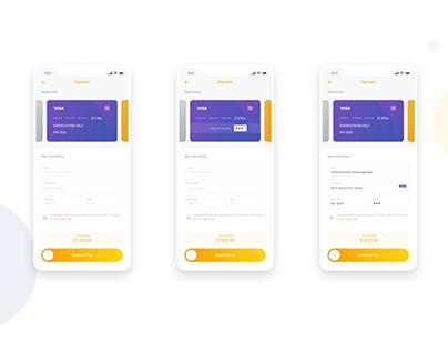 Card Payment App design