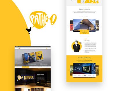Rebrand site - pathé groupe
