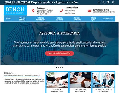 Diseño de pagina web para brokers hipotecario.
