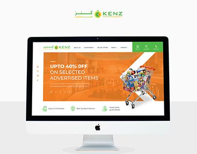 Kenz Hyper Market Webdesign