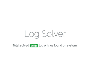 Log Solver Project