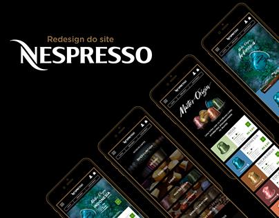 UX/UI Design - Redesign do site Nespresso (responsivo)
