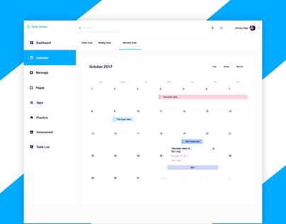 Calendar UI-Dashboard
