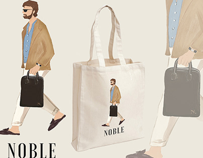 NOBLE by Xeno Tote Bag Designs