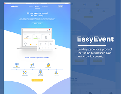 Easy Event Landing Page