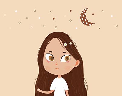 Cartoon girl #1