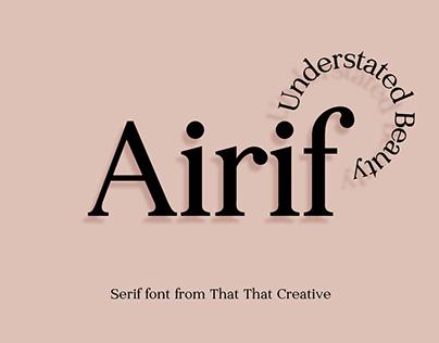 Airif — serif typeface