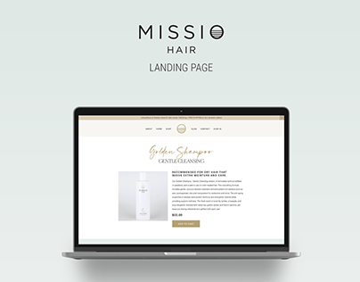 Missio Hair Landing Page