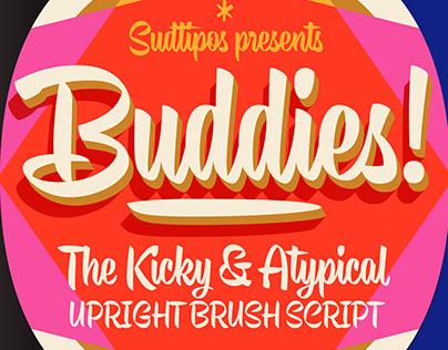 BUDDIES Brush Script Font