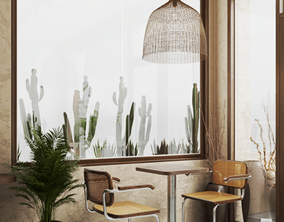 Mediterranean Revival Coffee Interior