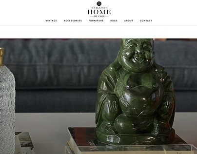 Curated Home Decor Website