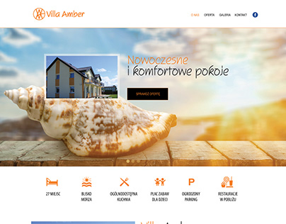 Villa Amber website design