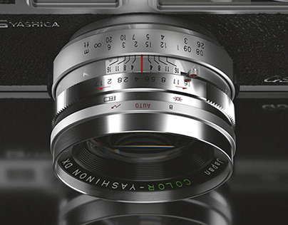 Vintage Camera Full CGI - YASHICA electro 35 GSN