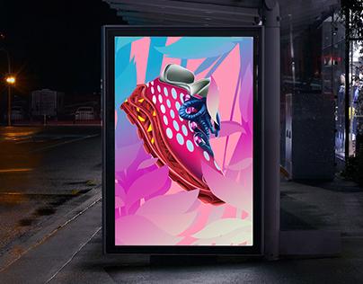 Anta Footwear Poster Advertising Mock Up