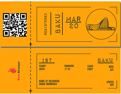 Boarding pass (imaginary product)
