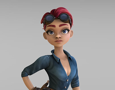 "3D Character ""Girl Mechanic"""
