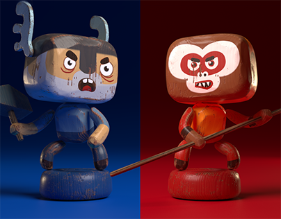 Wooden toy gods