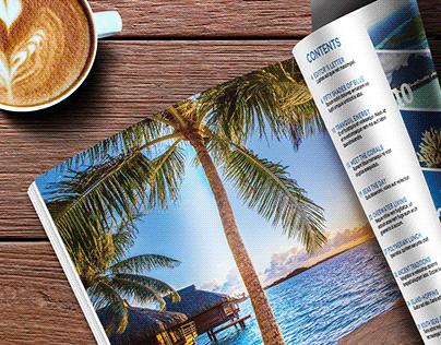 'Pacific World' Travel Magazine Spreads