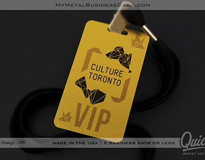 Custom Printed Gold Metal VIP Event Pass Card