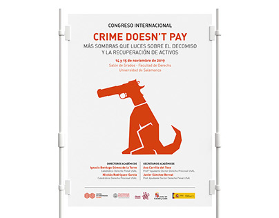 Cartel Congreso Internacional CRIME DOESN'T PAY