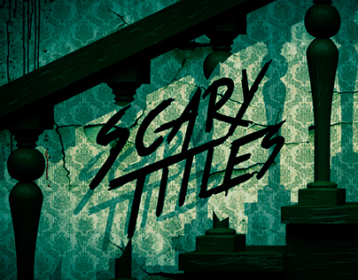 """""""Scary Titles"""" After Effects Template"""