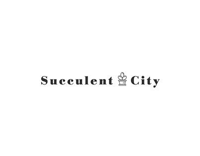 Succulent city logo, branding and visual identity