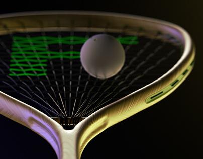 squash racquet CGI