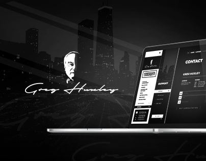 Website & brand identity for Greg Huxley