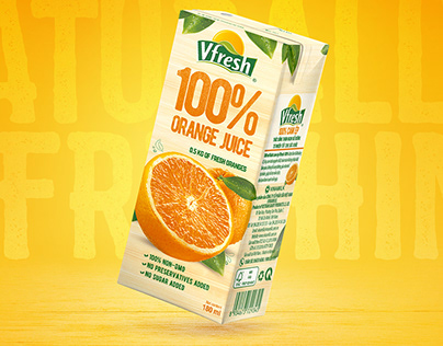 Packaging Design for 100% Orange Juice