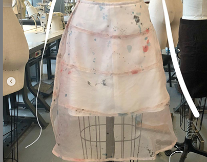 Hand-dyed Silk Skirt