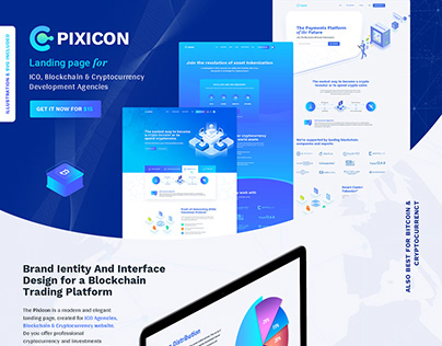 ICO, Blockchain & Cryptocurrency Landing Page