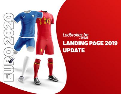 Landing page sports