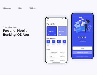 Personal Mobile Banking iOS App — UI/UX Design