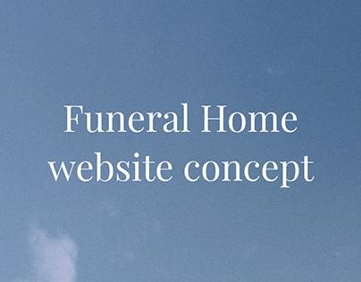 Funeral Home website concept