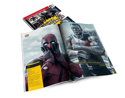 Dergi Tasarım - Süper Kahramanlar