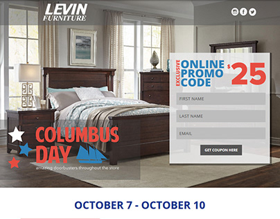 Levin Furniture Email Campaign