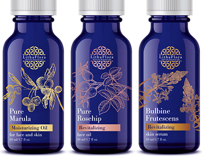 LithaFlora Oils / Branding and packaging design