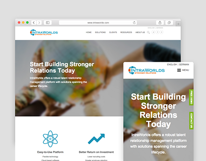 IntraWorlds Inc. Web Design