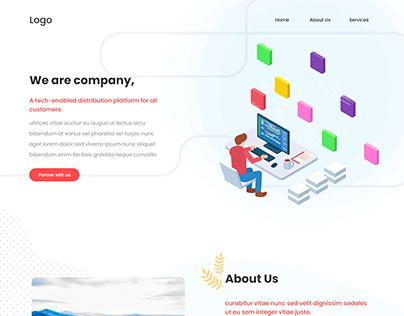 Company landing page website design