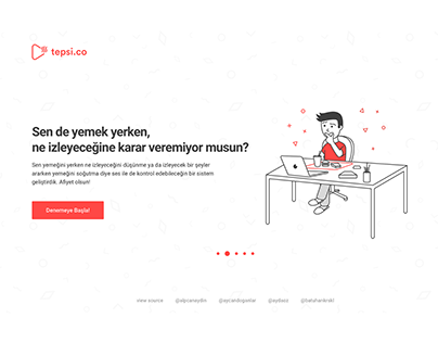 Tepsi.co Interface and Illustrations Design