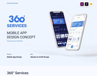 360° Services App Design Case Study
