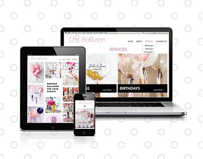 Chic Balloon Full Branding and Website design