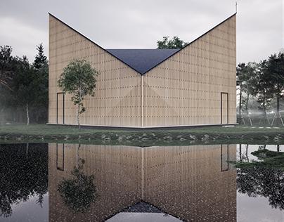 Capilla del Jardín de Nanjing Wanjing AZL Architects3D