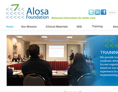 Alosa Foundation - Information Architecture Overhaul
