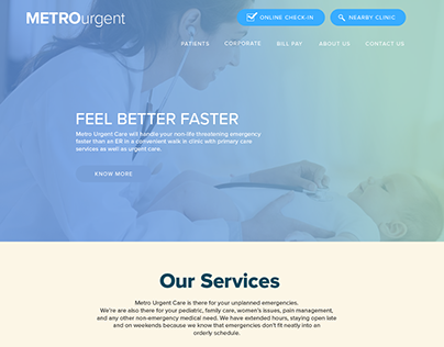 Medical website template!