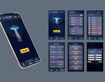 Mobile application ui design for game.