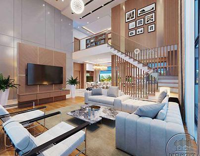 Thiết kế nội thất biệt thự cao cấp 2 tầng tại Lào