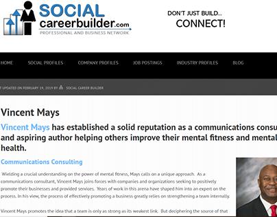 Social Career Builder - Vincent Mays