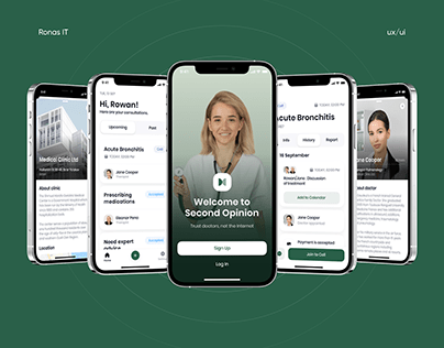 UI/UX for Web and Mobile Health Consultation apps